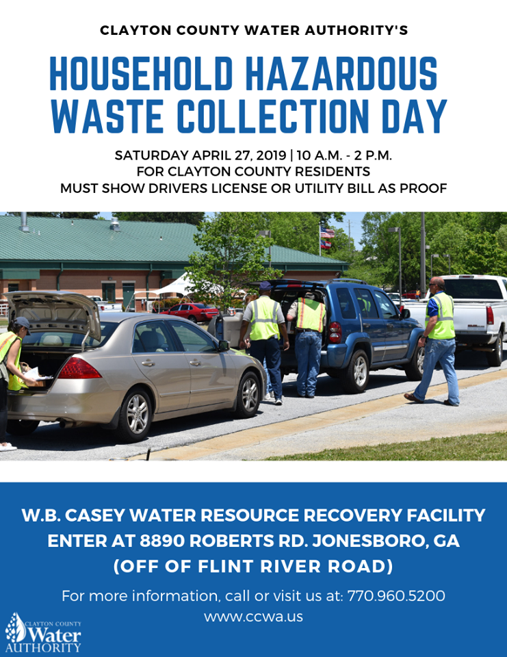 Household Hazardous Waste Collection Day @ W.B. Casey Water Resource Recovery Facility